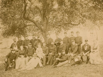 Image: Burnside and his Staff, 7 X 9.25in., albumen print, Photography Collections, UMBC.