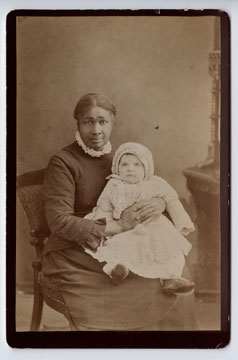 Image: 'Aunt Leah' and Nora McDowell, Kirk, Newark, New Jersey, Cabinet Card.