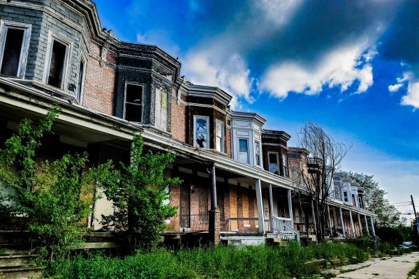 Vacant row houses