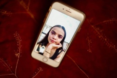 Portrait depicting Astha on iPhone