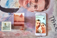 Portrait depicting Matt & Margaret on iPhone
