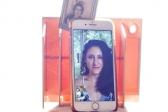 Portrait depicting Denise on iPhone