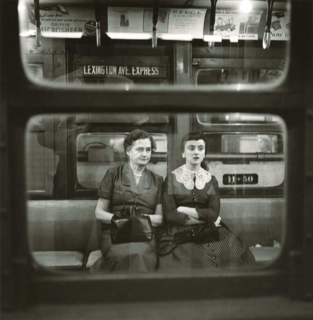 two women in subway