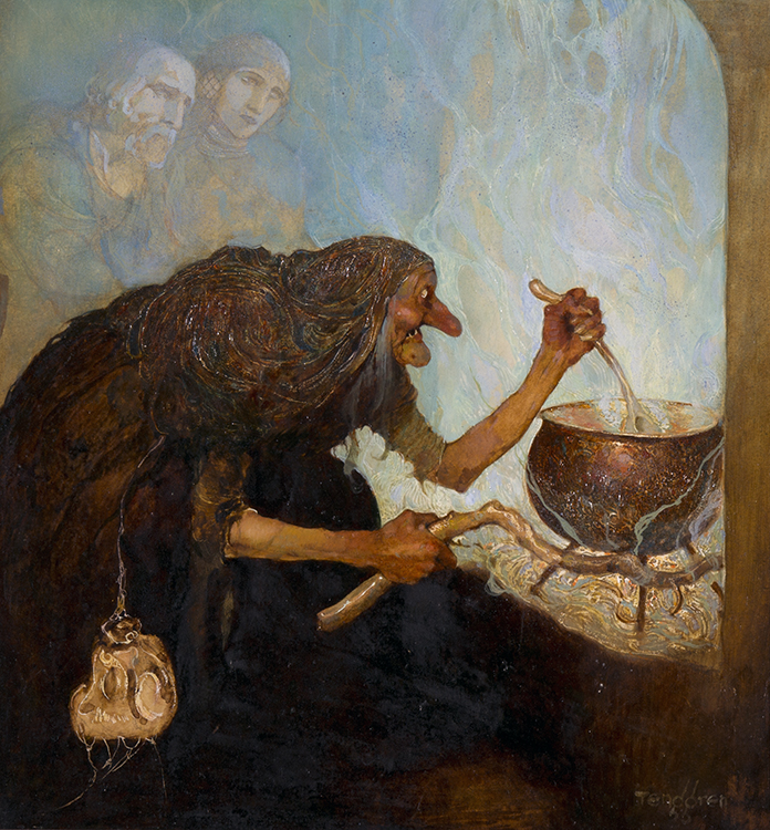 Gustaf Tenggren, Karlekens Under, 1922, Watercolor, gouache on illustration board
