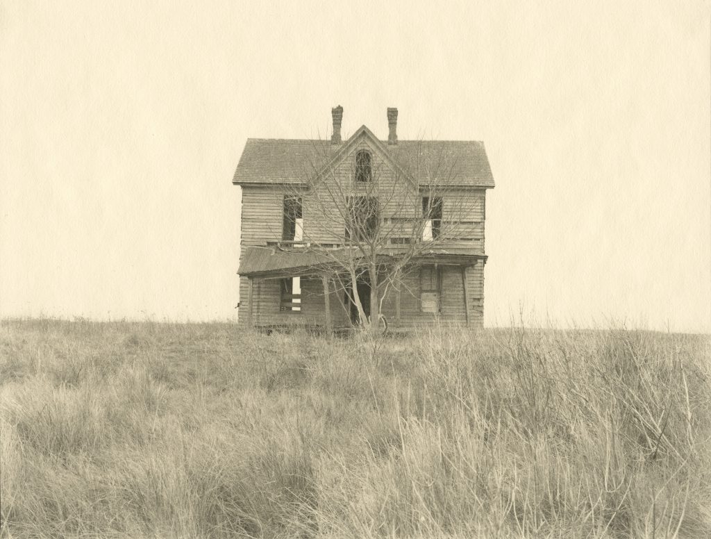Abandoned house in the field