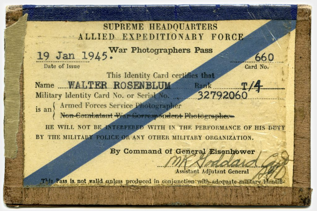 old id card, war photograph pass